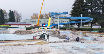 demolice aquaparku