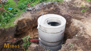 hloubení studny, skruže