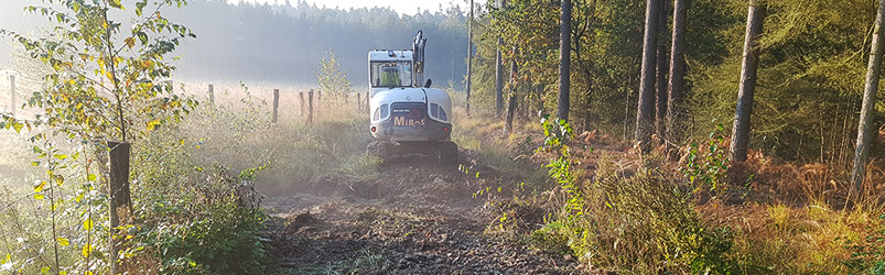 výstavba lesní cesty