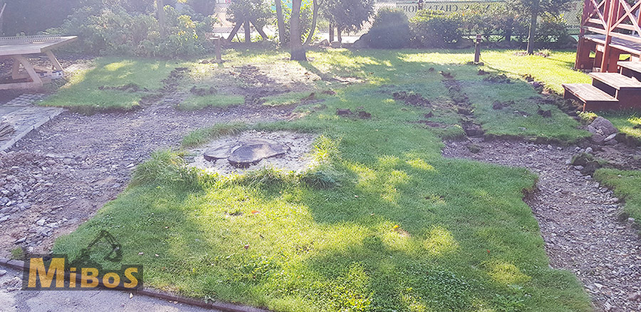 odstranění kořenů - před
