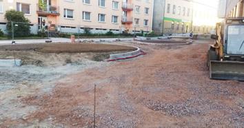příprava terénu a navážení materiálu
